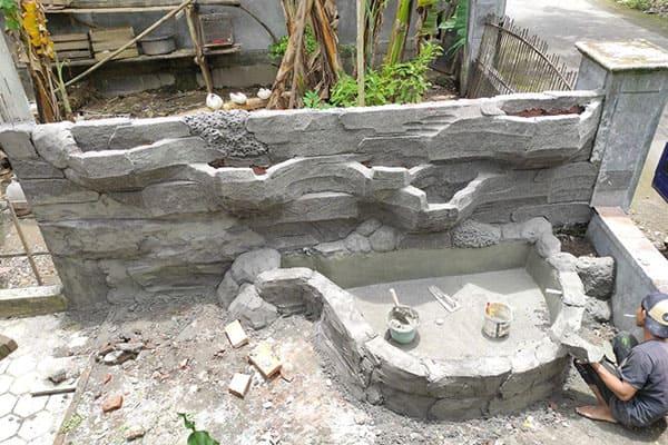 pembuatan taman jogja-kolam relief (16)