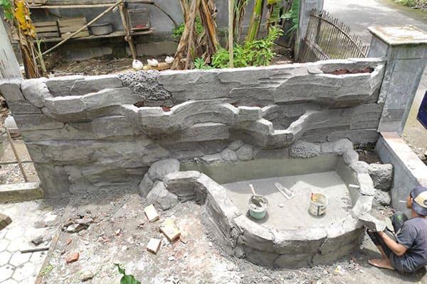 pembuatan taman jogja-kolam relief (4)