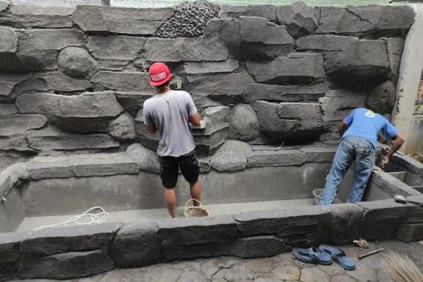 pembuatan taman jogja-kolam relief (6)